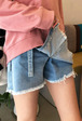 Tie-Side Denim Skort