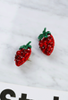 Strawberry Push Back Earrings