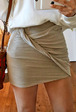 Twist Front Mini Skirt